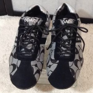 Coach sig fabric sneakers